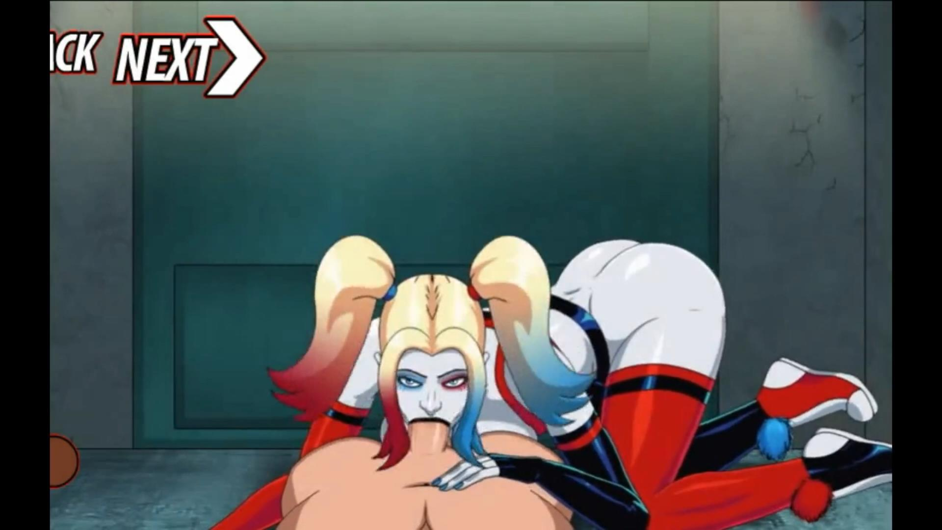 Harley Quinn Anime Video Game handjob